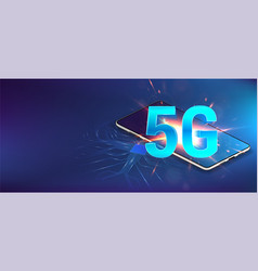 5g banner hi-tech vector