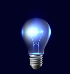 a realistic bulb with pulse element for vector image