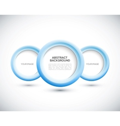 Abstract 3D blue circles background vector