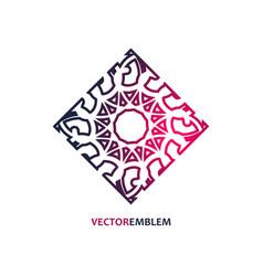 Abstract rhomb emblem vector