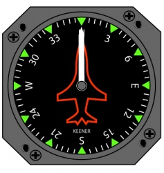 Airplane compass vector