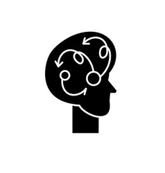algorithmic thinking black icon sign on vector image