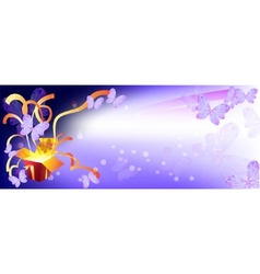 Background for banner box surprise Butterfly vector image