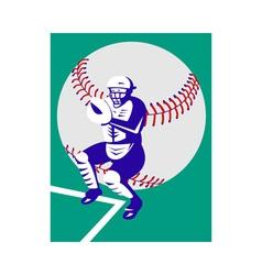 baseball player catcher vector image