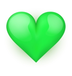 Beautiful realistic green heart vector