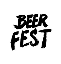 beer fest grunge phrase in vintage style isolated vector image