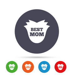 Best mom sign icon flower symbol vector