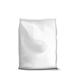 blank foil or paper food sachet bag pack vector image