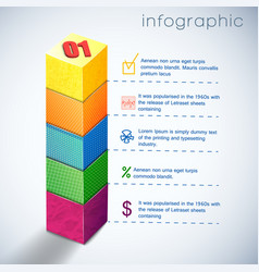 business diagram infographic vector image