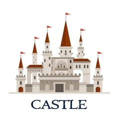 Castle fortress symbol for architecture design vector