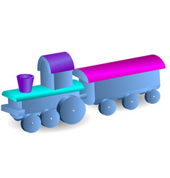 Childrens locomotive with wagon vector