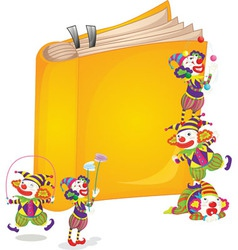 Clowns on book vector