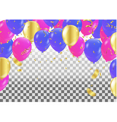 colorful balloons party banner with balloons vector image