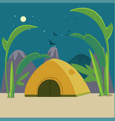 colorful camping background vector image