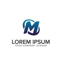 creative modern letter m logo design concept vector image
