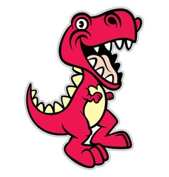 Cute cartoon t rex dinosaur vector