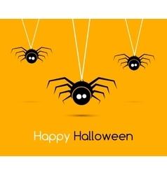Cute funny spiders and cobweb vector