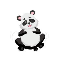 Cute happy bapanda bear smiling lovely animal vector