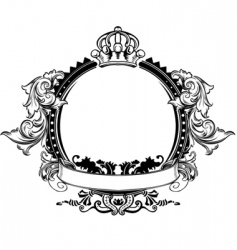 Decorative crown vector