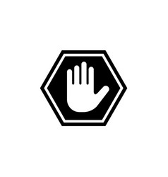 do not enter stop hand flat icon vector image