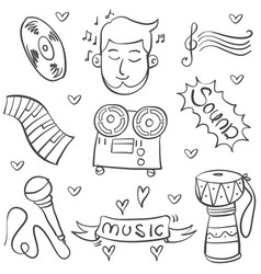 Doodle of music various vector