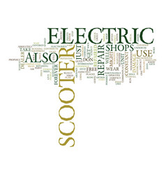 Electric scooter repair text background word vector
