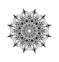 ethnic mandala towel yoga henna tattoo style vector image