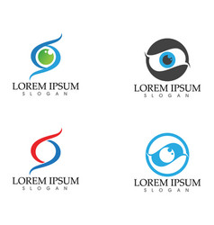 Eye care logo and symbols template icons app vector