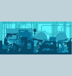 factory production line - industrial plant shop vector image