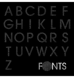 Finger print regular alphabet best font vector image