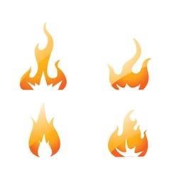 Flame set vector image
