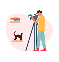 flat photographer composition vector image
