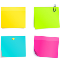 Four Colorful Sticky Notes Blank sheets vector image