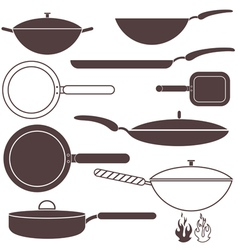 Frying pan vector