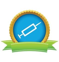 Gold syringe logo vector