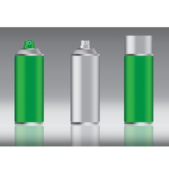 green spray can vector image