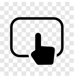 Hand touching pad icon - iconic design vector