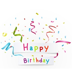 Happy birthday greetings with paper vector