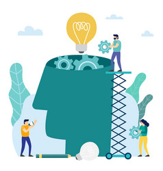 Head filled of ideas and creative vector