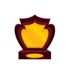 Honorable award for the winner golden trophy on vector
