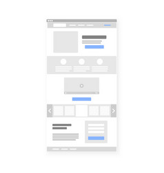 Landing page website wireframe interface template vector