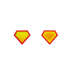 Layouts superman shield icon with shadow vector