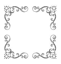Leaf branch round place frame vector