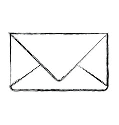 Monochrome blurred silhouette of envelope mail in vector