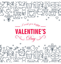 Monochrome valentines day decorative card vector