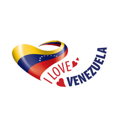 National flag venezuela in shape a vector