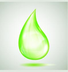 one big green drop vector image