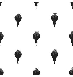 opium poppy icon in black style isolated on white vector image