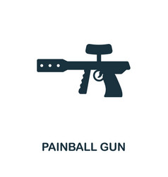 Paintball gun flat icon colored filled simple vector