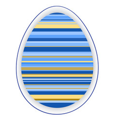 paper card template with color striped easter egg vector image